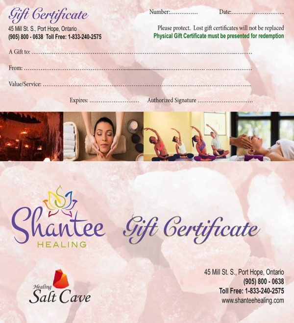 Full Page Gift Certificate